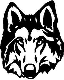 Very detailed Wolf Decal