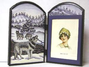 Beautiful Stained Glass Wolf Picture Frame