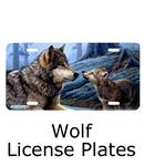 Wolf License Plates for your car