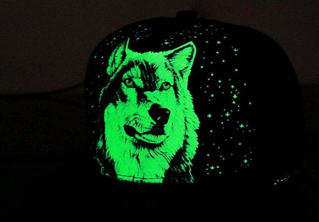 Wolf Glow In The Dark Hat